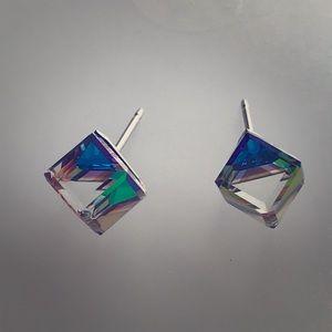 NEW Swarovski Crystal Iridescent Stud Earrings